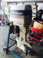 "1986 Johnson 150 hp Outboard Boat Motor Engine 25"" Oil Injected"