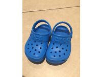 Blue Crocs. Toddlers. Size 6