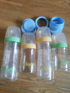 Feeding Essentials-Microwave Steam Sterilizer, Playtex bottles