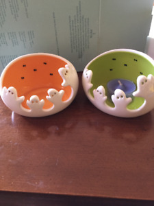 EUC Party Lite Spooky Ghost Tealight Pair