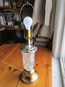 Hand Cut Glass Table Lamp