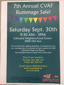 HUGE COMMUNITY RUMMAGE SALE