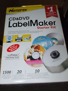 Memorex CD/DVD Label Maker Starter Kit - NEW - $10.00