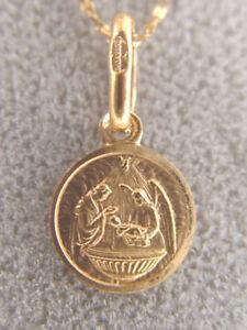 Baptism Religious Pendant 10K gold Child's Pendant and 10K Gold