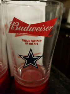 budweiser red light touchdown glasses Dallas cowboys