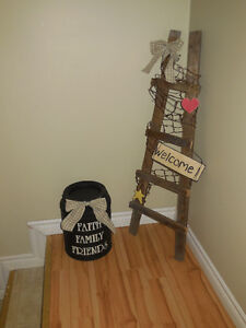 RUSTIC LADDER AND MILKCAN!