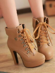 Women's Apricot Heely Leather Ankle Boots