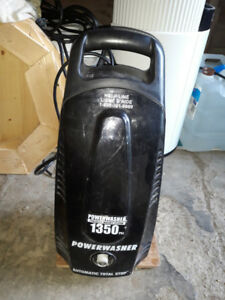 PRESSURE WASHERSundance 1350 PSI Electric Pressure Washer featu