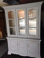 Chalk painted China cabinet / hutch