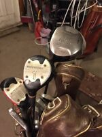 Left-handed golf clubs