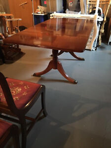Duncan Phyfe drop leaf table with 4 chairs London Ontario image 1