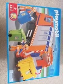 Playmobil 4418 recycling truck dustbin garbage rubbish bin city life