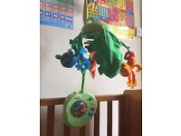 Fisher-Price Rainforest Peek-a-Boo Leaves Musical Mobile plus box and instructions.