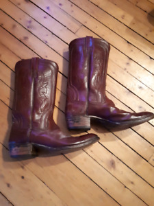 Price Reduced! Vintage Mens Leather Cowboy Boots - R.J. Foley