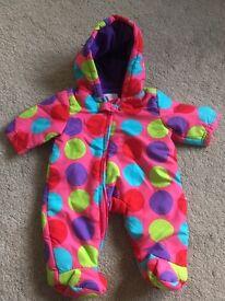 Baby snowsuits boys/girls 0-24 mnth