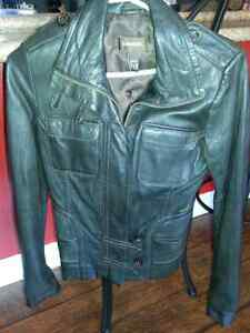 XXS Brown Leather Jacket