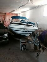 21' boat and trailer for trade