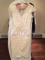 Gorgeous cream dress from Le Mariage size 9, worn once!