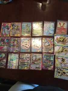 Pokemon cards ex, mega, full art, break