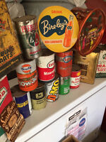 PREMIUM PRICES FOR  TINS CANS AND SIGNS