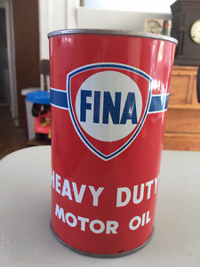 Fina Motor Oil Cans