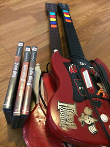 Guitar Hero Controllers, and Guitar Hero 1, 2, and 3 for PS2