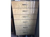 1960's tall chest of drawers