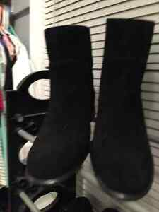 Black suede boots size 9.5