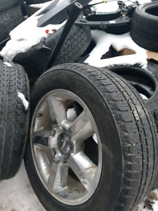 """SET OF 4 20"""" 6X139.7 RIMS AND TIRES"""