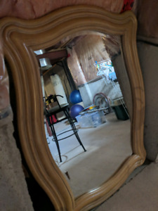 Mobilia real wood mirror