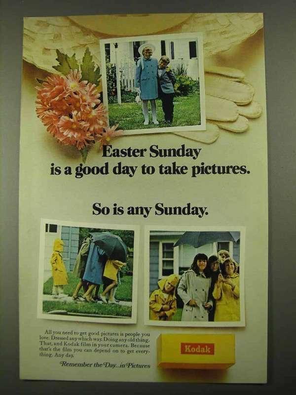 1968 Kodak Film Ad - Easter Sunday A Good Day