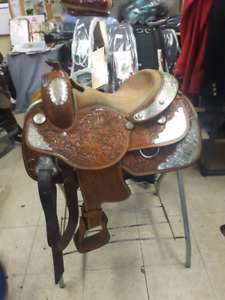 "13"" silver royal youth show saddle"