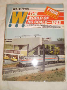 HO Scale Trains  /  Walthers Catalogue and Reference Manual 1988