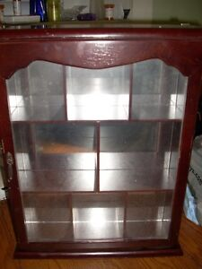 curio cabinet 17 by 13 1/2