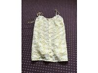 Yellow flowery vest New size 8