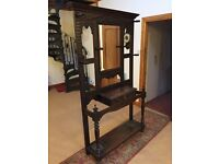 Antique dark oak hall stand