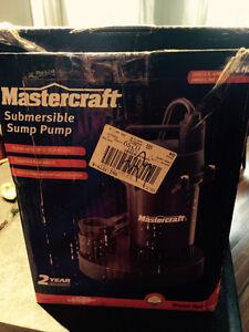 New submersible sump pump