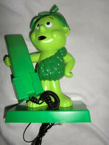 Pillsbury 1984 SPROUT Jolly Green Giant Phone Advertising Green