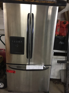 Stainless Steel Side by side with freezer on bottom