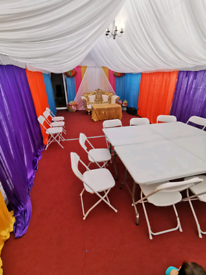 £1.50 per chair £5 per table for hire Birmingham