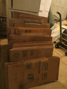 33 moving boxes assorted sizes