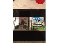 Mario cart and super Mario bros for DS