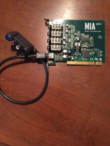 Carte de son PCI/ISA - Echo Mia Midi
