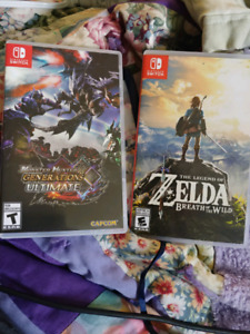 Breath of the wild and monster Hunter ultimate