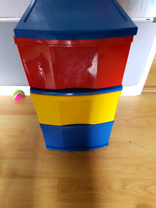 Colored Bin Unit