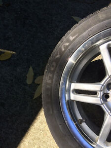 Set of All Season Tires with Alloy Rims Kitchener / Waterloo Kitchener Area image 2