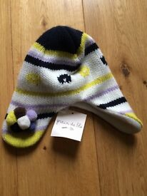 Baby hat fleece lined size 46/48