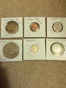 6 pcs world coins