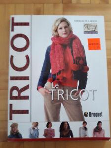 livre de tricot 2.00$