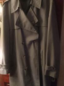 Man's rain coat blue